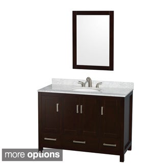 Wyndham Collection Sheffield 3-hole Faucet Espresso 48-inch Single Vanity