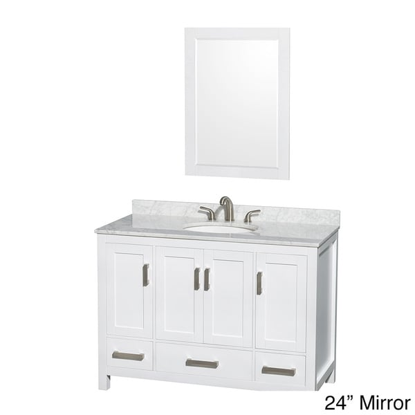 Shop Wyndham Collection Sheffield 3 Hole Faucet White Wood 48 Inch Single Vanity Free Shipping
