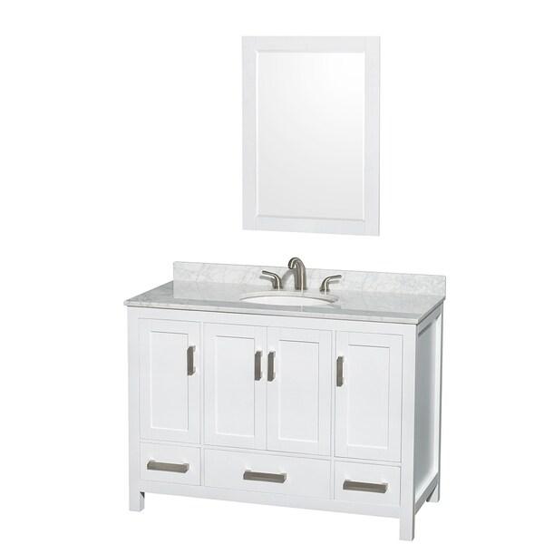 Wyndham Collection Sheffield White 48-inch Single Vanity