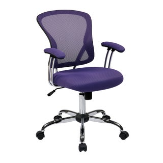 The Curated Nomad LaPaglia Chrome Mesh Vinyl Adjustable Tilt Tension Office Chair