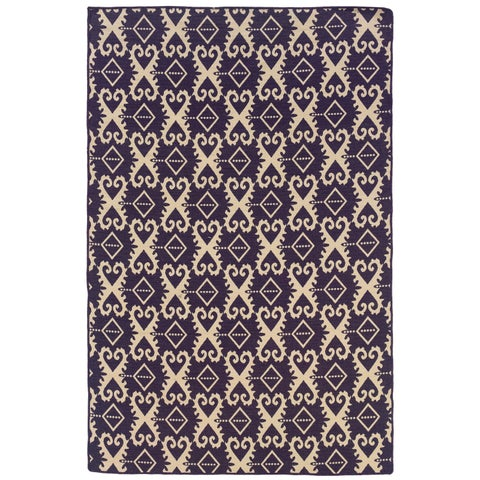 Linon Foundation Collection Ikat Reversible Rug - 5' x 8'