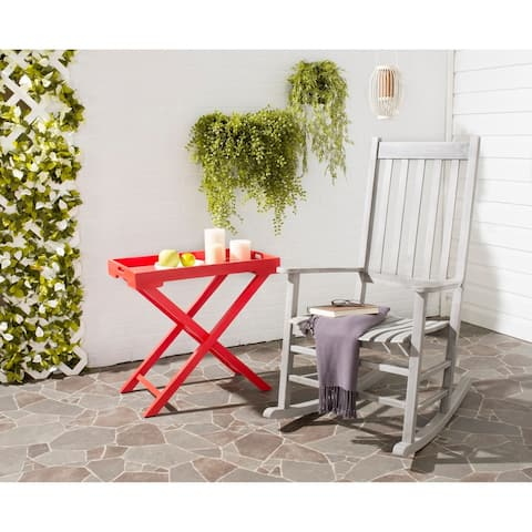 Safavieh Shasta Grey Wash Acacia Wood Rocking Chair
