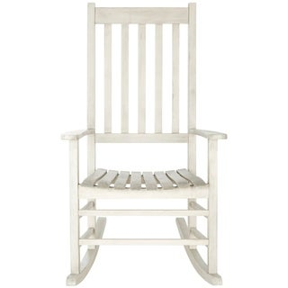 Safavieh Shasta White Wash Grey Acacia Wood Rocking Chair