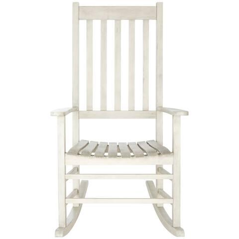 SAFAVIEH Shasta White Wash Grey Acacia Wood Rocking Chair