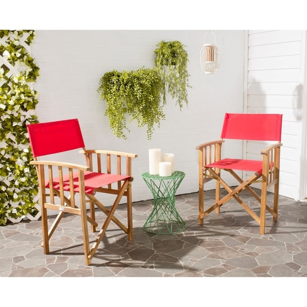 dining tables and chairs for sale in laguna kitchen safavieh laguna red acacia wood director chair set of 2 shop on