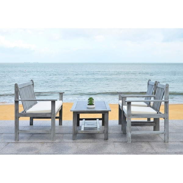 Shop Safavieh Burbank Grey Wash Acacia Wood 4-piece
