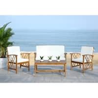 Safavieh Outdoor Living Fontana Beige Acacia Wood 4-piece Furniture Set