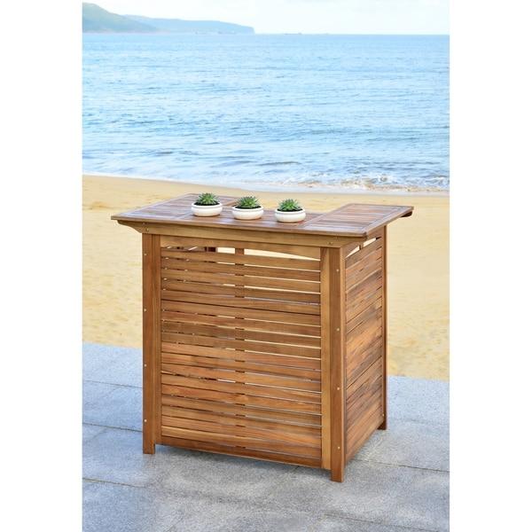 Safavieh Monterey Brown Acacia Bar Table