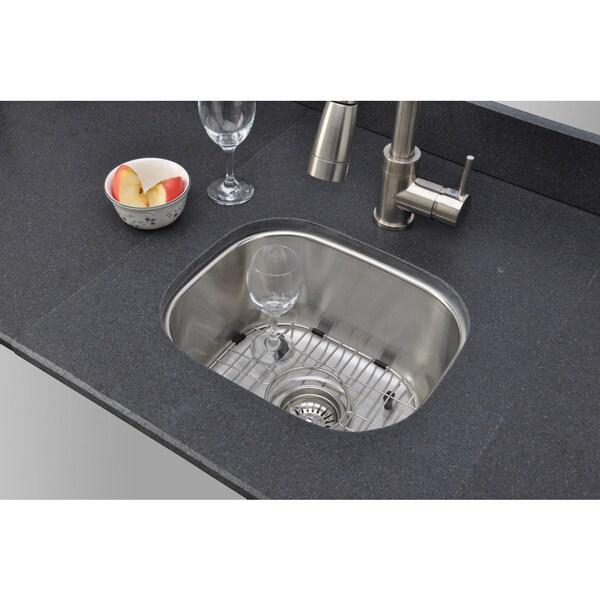 Wells Sinkware 18 Gauge Single Bowl Undermount Stainless Steel Kitchen Sink