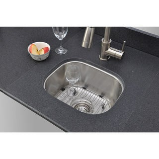 Wells Sinkware 18 Gauge Single Bowl Undermount Stainless Steel Kitchen Sink