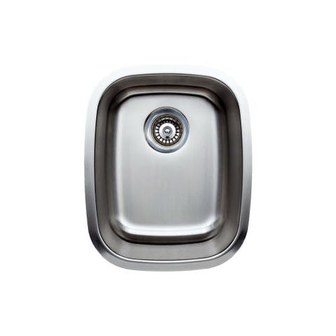 Wells Sinkware Craftsmen Series 15-inch 18-gauge Undermount Single Bowl Stainless Steel Kitchen Sink