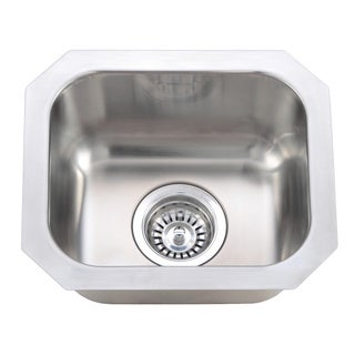 Wells Sinkware 18 Gauge Single Undermount Bowl Stainless Steel Kitchen Sink