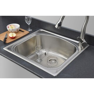 Wells Sinkware 18-Gauge Single Bowl Topmount Stainless Steel Kitchen Sink