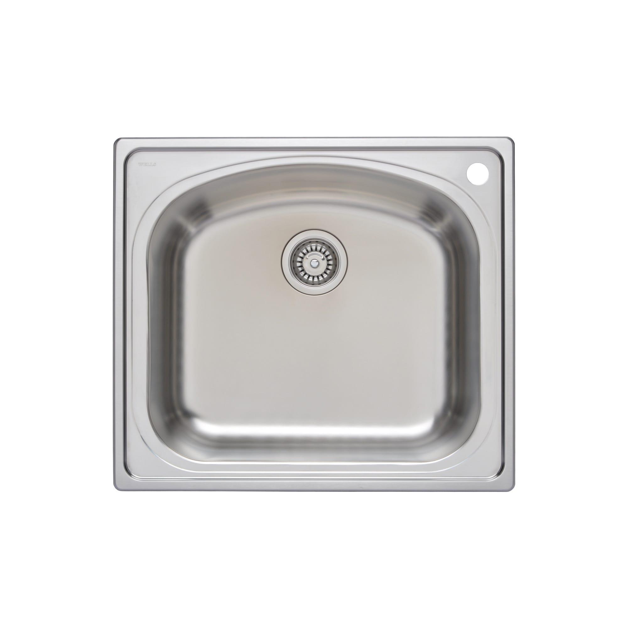 2  wells sinkware 18 gauge     wells sinkware cht2522 8r 18 gauge kitchen single topmount steel      rh   ebay com