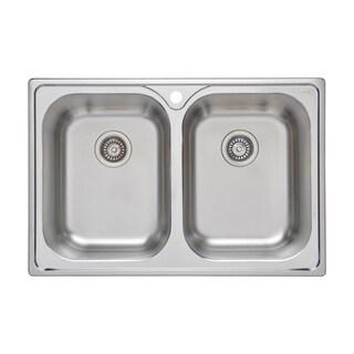 Superieur Wells Sinkware 33 Inch 18 Gauge Double Bowl Topmount Stainless Steel  Kitchen Sink