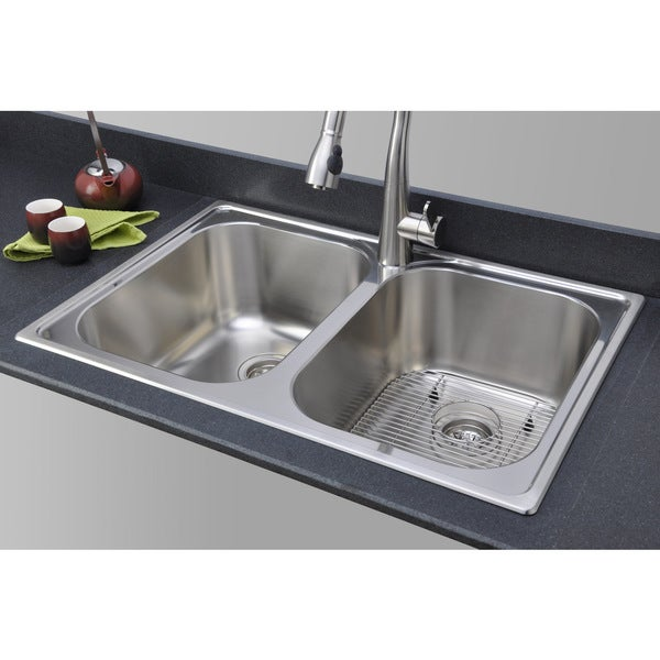 topmount kitchen sinks shop sinkware 33 inch 18 bowl topmount 2867