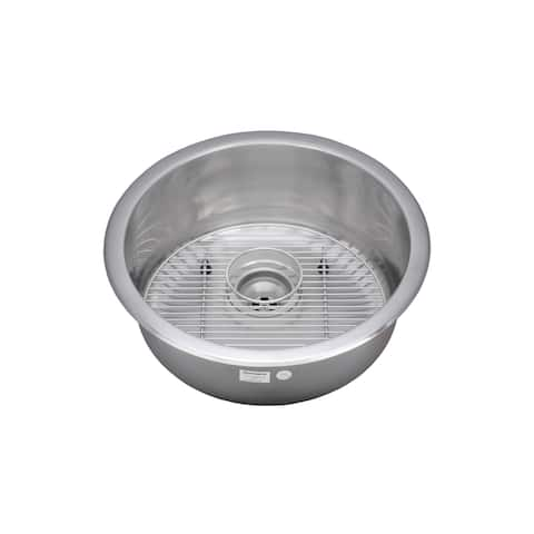 Wells Sinkware 18 Gauge Single Bowl Undermount Stainless Steel Kitchen/ Bar Sink Package
