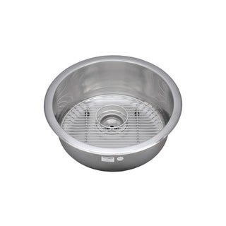 Wells Sinkware 18 Gauge Single Bowl Undermount Stainless Steel Kitchen/ Bar Sink Package