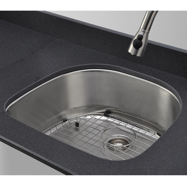 Wells Sinkware 18 Gauge D-shape Single Bowl Undermount