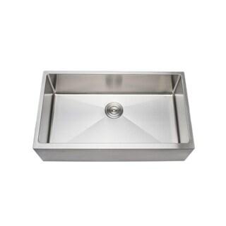 Wells Sinkware 33-inch 16-gauge Undermount Farmhouse Apron Front Single Bowl Stainless Steel Kitchen Sink