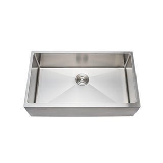 Wells Sinkware 33 Inch 16 Gauge Undermount Farmhouse Apron Front Single  Bowl Stainless Steel