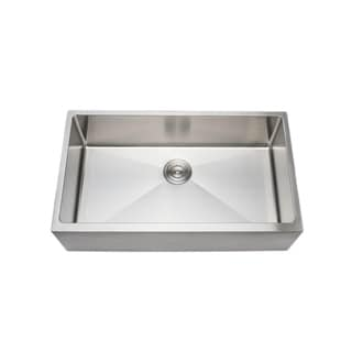 Link to Wells Sinkware 33-inch 16-gauge Undermount Farmhouse Apron Front Single Bowl Stainless Steel Kitchen Sink Similar Items in Sinks