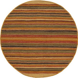Hand-woven Mohawk Green Jute Round Rug (6' x 6')