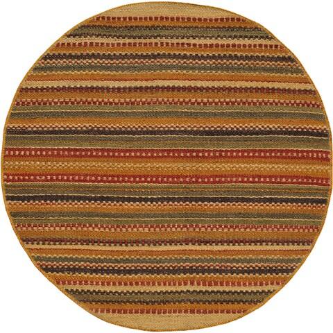 Hand-woven Mohawk Green Jute Round Rug (8' x 8')