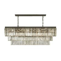 Gallery Odeon Crystal Fringe 12-light Rectangular Chandelier