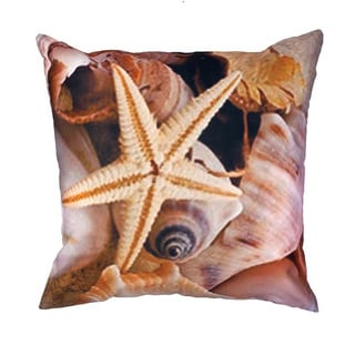 20 x 20-inch Starfish Outdoor Throw Pillow (India)