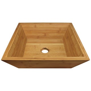 Polaris Sinks P198 Bamboo Vessel Bathroom Sink