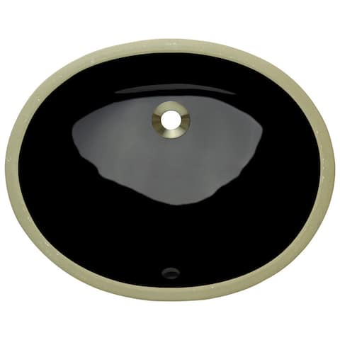 Polaris Sinks PUPSBL Black Porcelain Bathroom Sink