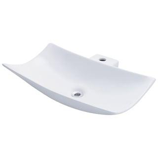 Polaris Sinks P042VW White Porcelain Vessel Sink