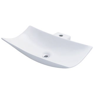 Polaris Sinks P042VW White Porcelain Vessel Sink