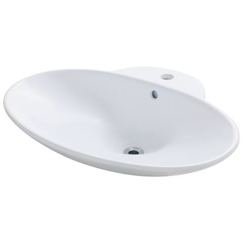 Polaris Sinks P062VW White Porcelain Vessel Sink