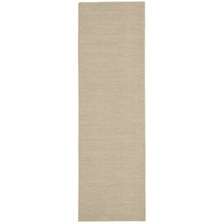 Nourison Hand-loomed Plateau Madder Cotton/ Wool Rug (2'3 x 8')