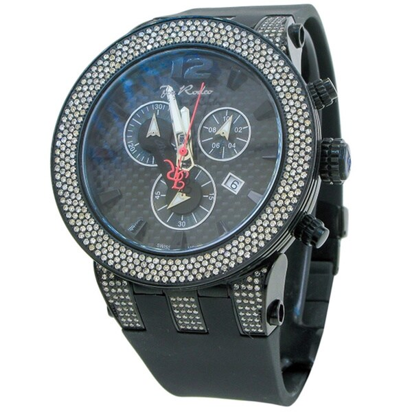 Joe Rodeo Men's 'Broadway' 5ctw Diamond Black Watch