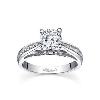 Barkev's Designer 14k White Gold 1ct TDW Round Diamond Engagement Ring