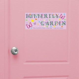 Peel & Stick Butterfly Door Sign