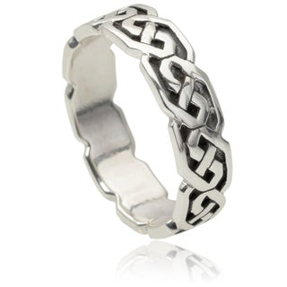 Vance Co. Men's Sterling Silver Celtic Knot Band