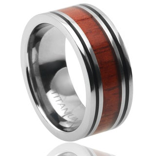 Vance Co. Men's Titanium Inlay Band