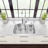 VIGO All-in-One 31-inch Stainless Steel Undermount Kitchen Sink and Zurich Chrome Faucet Set