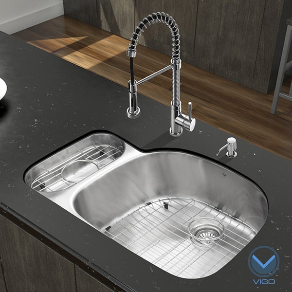 Double Bowl Undermount Stainless Steel Kitchen Sink Vigo all in one 32 fulton stainless steel double bowl undermount vigo all in one 32 fulton stainless steel double bowl undermount kitchen sink workwithnaturefo