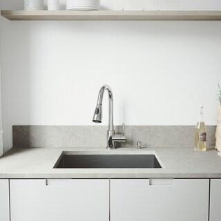VIGO Ludlow Stainless Steel Kitchen Sink Set with Weston Faucet