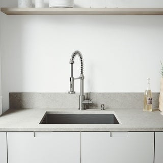 VIGO Ludlow 23-inch Stainless Steel Kitchen Sink and Edison Faucet Set