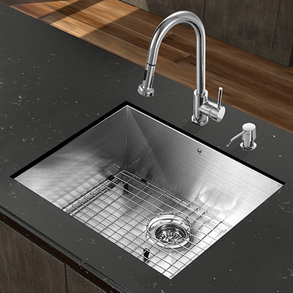 kitchen sink set vigo all in one 23 quot x 18 ludlow stainless steel 2874