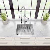 VIGO All-in-One 23-inch Stainless Steel Undermount Kitchen Sink and Zurich Chrome Faucet Set - Stainless Steel