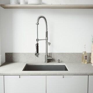 Vigo All In One 23 Inch Undermount Stainless Steel Kitchen