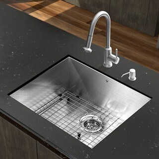 VIGO All-in-One 23-inch Stainless Steel Undermount Kitchen Sink and Astor Stainless Steel Faucet Set