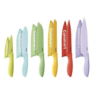 Cuisinart 12pc. Ceramic Coated Color Knife Set with Blade Guards|https://ak1.ostkcdn.com/images/products/9007342/P16210386.jpg?impolicy=medium